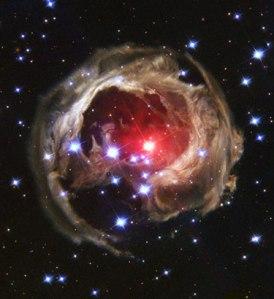 Hubble V838 spirali spaziali