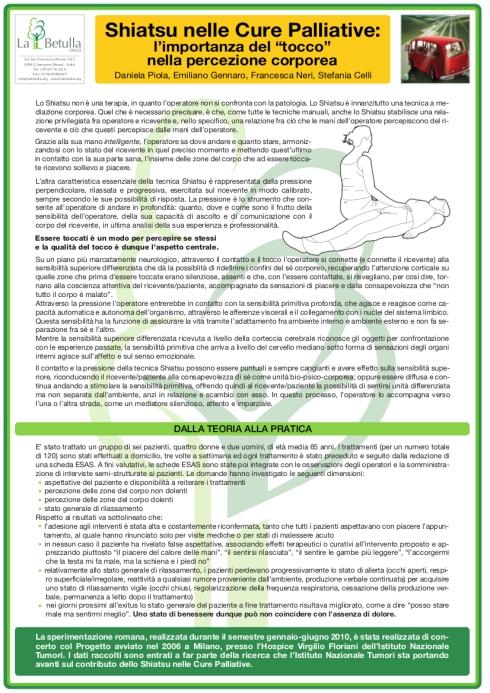 Shiatsu nelle cure palliative - poster_iltocco