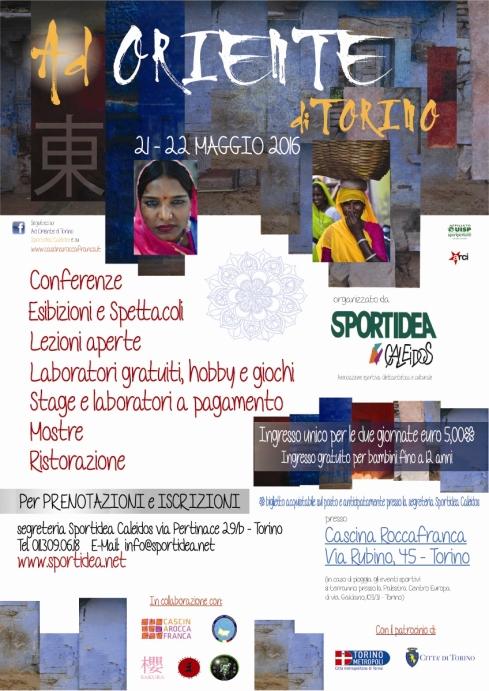 """""""Ad Oriente di Torino"""" 21 maggio 2016 conferenze con Valter Vico e Gianpiero Brusasco"""