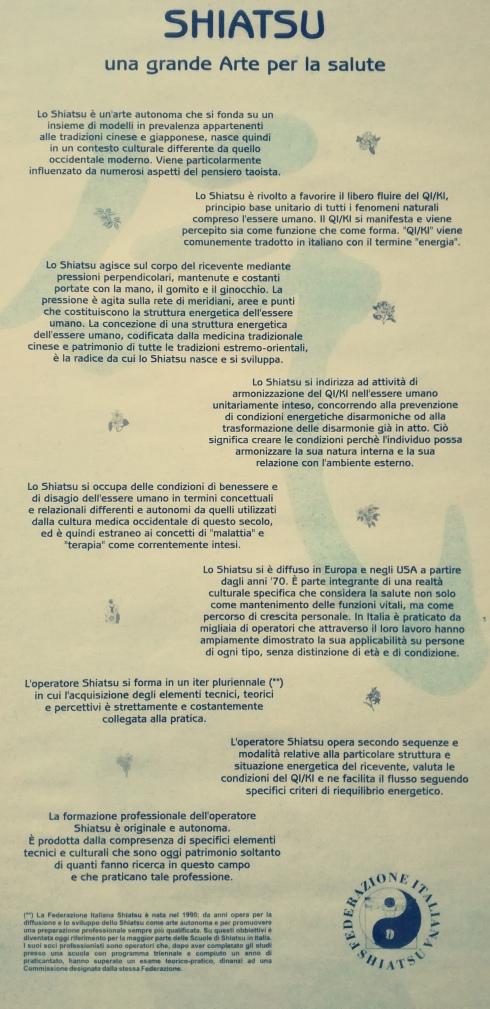 il manifesto dello Shiatsu