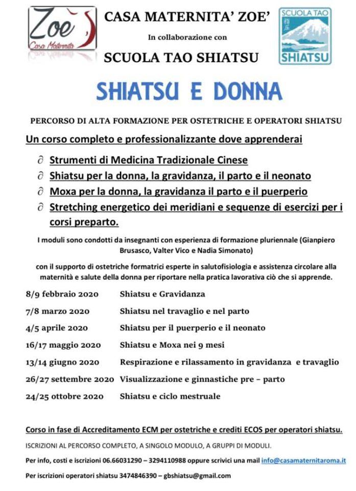 Master Shiatsu e donna - Roma 2020
